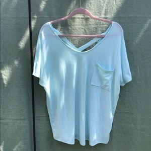 Black & Light Blue Relaxed Style T-Shirt.